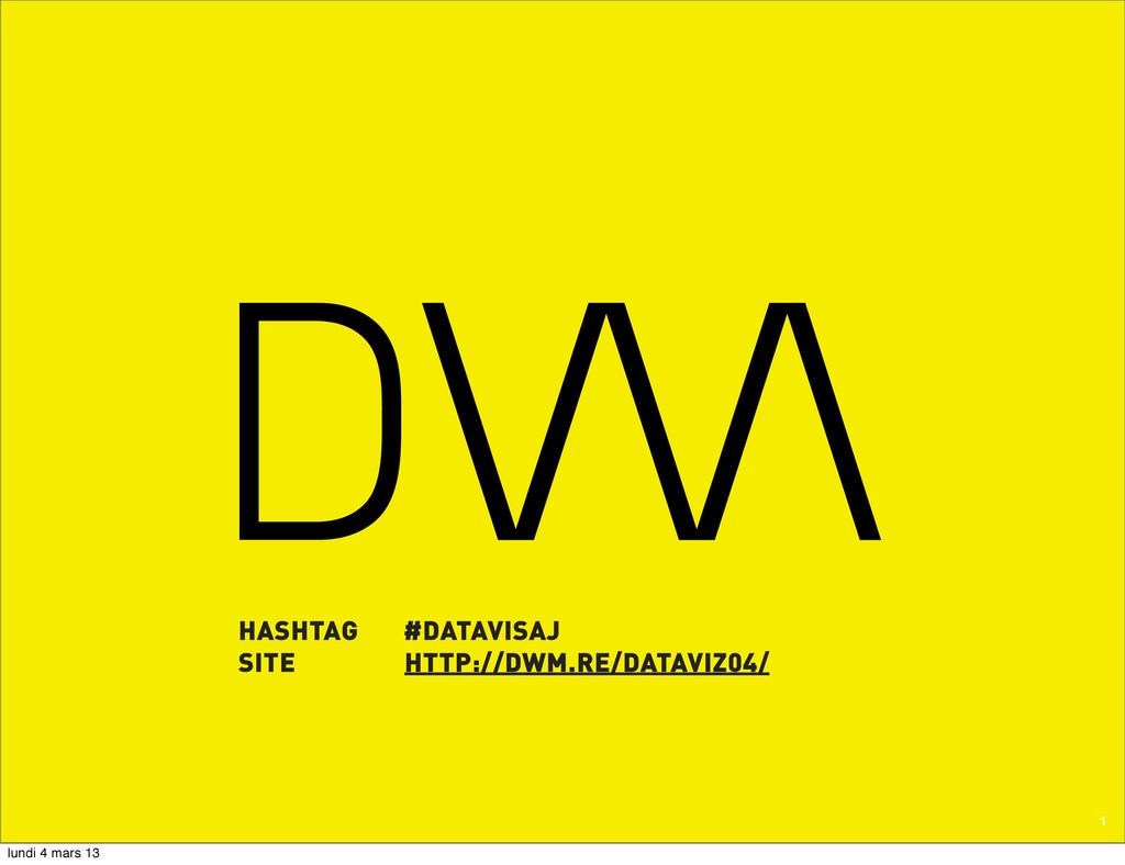 1 HASHTAG #DATAVISAJ SITE HTTP://DWM.RE/DATAVIZ...