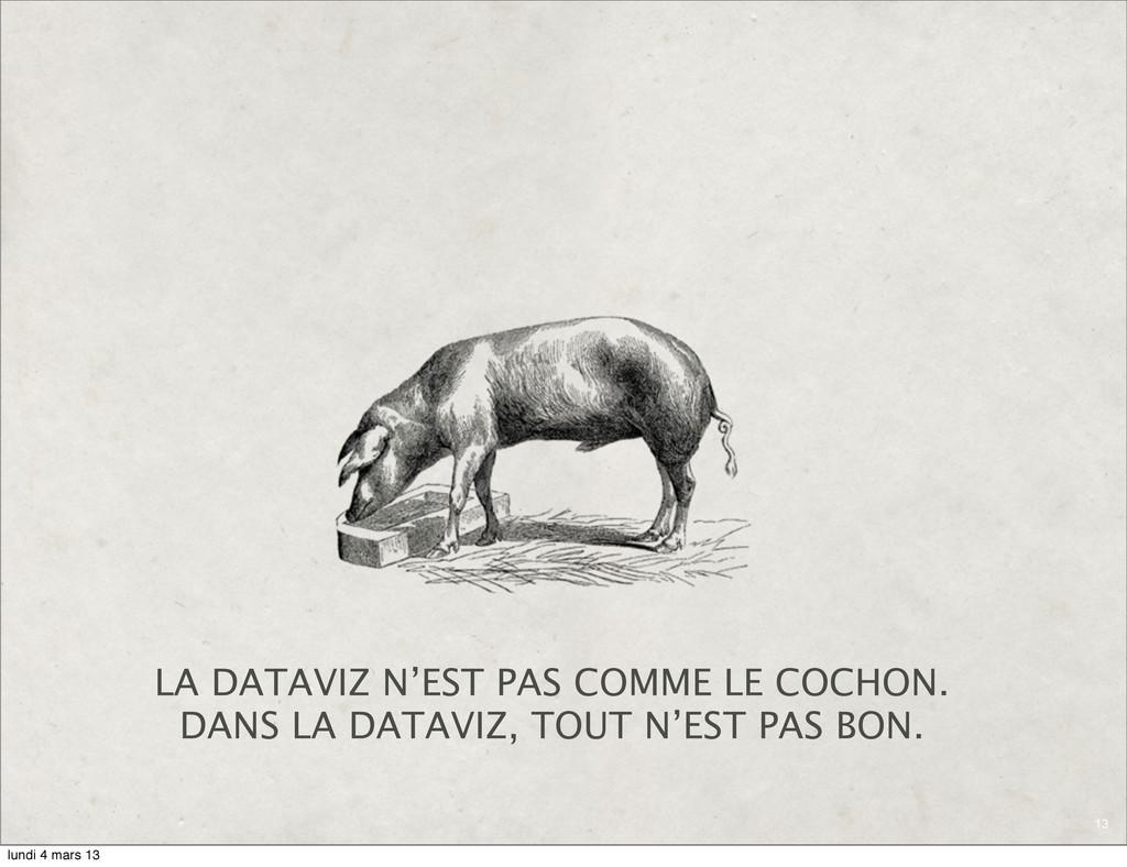 13 LA DATAVIZ N'EST PAS COMME LE COCHON. DANS L...