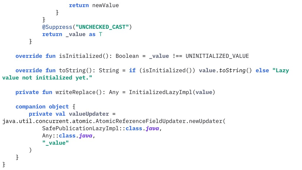 """return newValue } } @Suppress(""""UNCHECKED_CAST"""")..."""