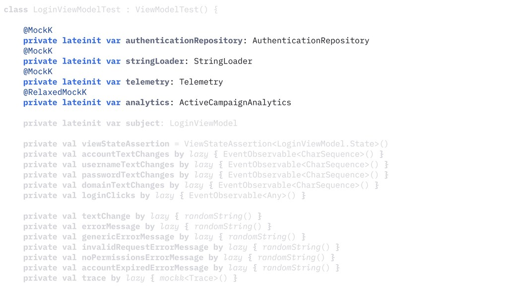 class LoginViewModelTest : ViewModelTest() { @M...