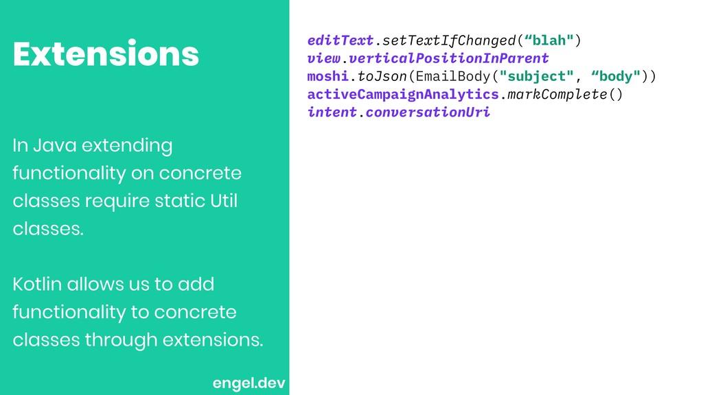 """Extensions editText.setTextIfChanged(""""blah"""") vi..."""