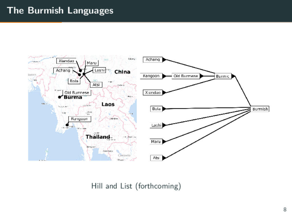 The Burmish Languages 8 Hill and List (forthcom...