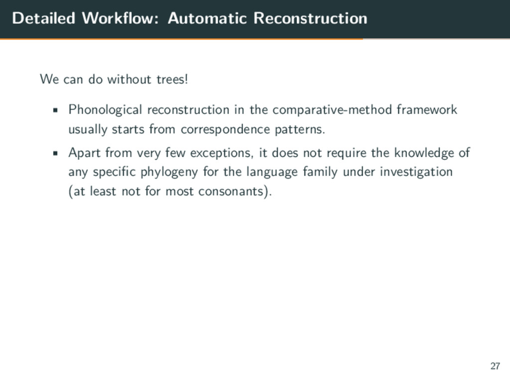 Detailed Workflow: Automatic Reconstruction We ...