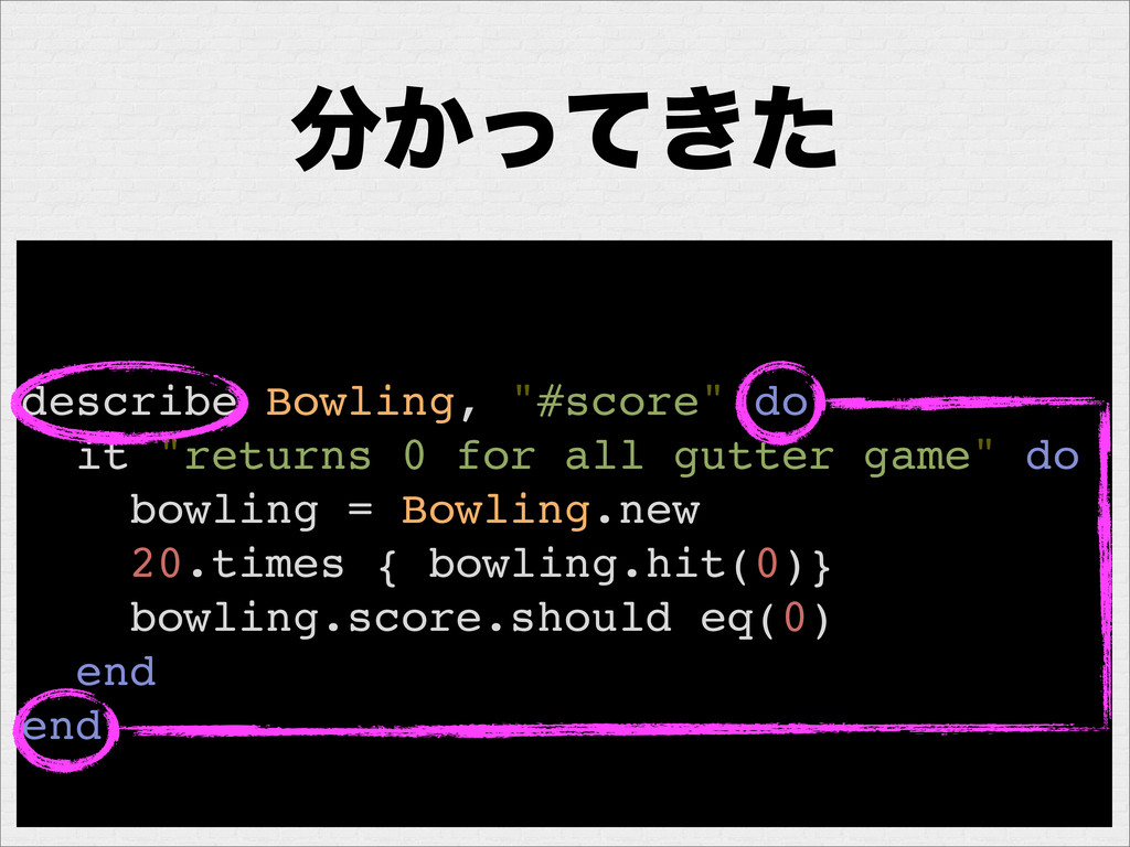 """͔͖ͬͯͨ describe Bowling, """"#score"""" do it """"return..."""