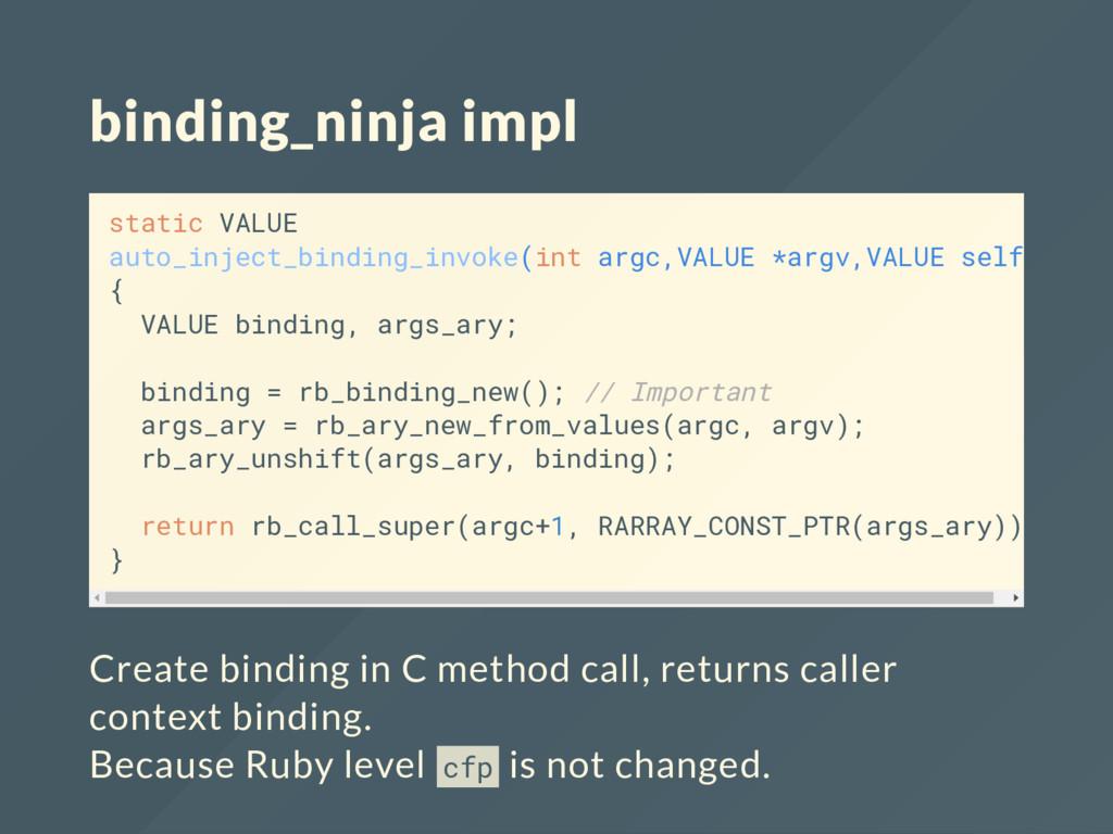 binding_ninja impl static VALUE auto_inject_bin...