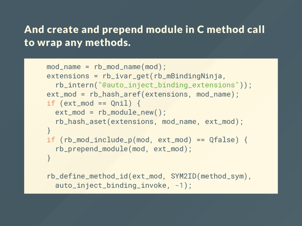 And create and prepend module in C method call ...