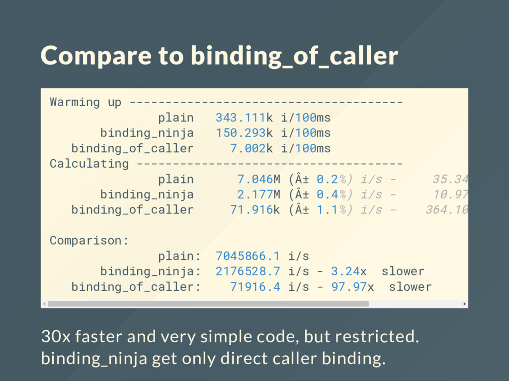 Compare to binding_of_caller Warming up -------...