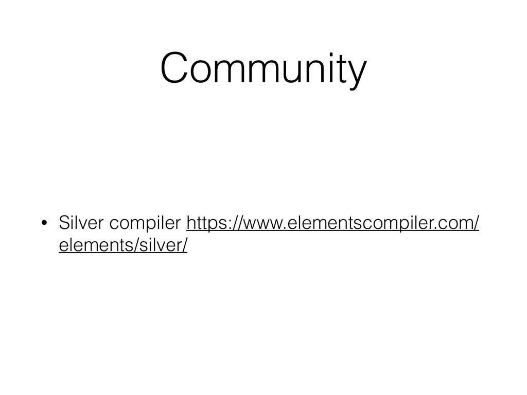 Community • Silver compiler https://www.element...