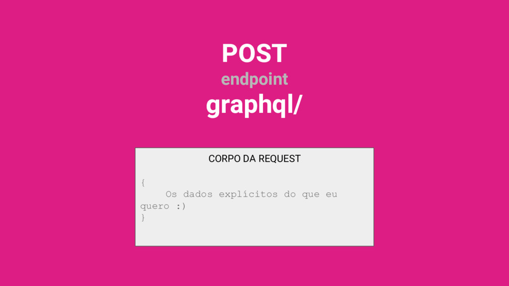 CORPO DA REQUEST { Os dados explícitos do que e...