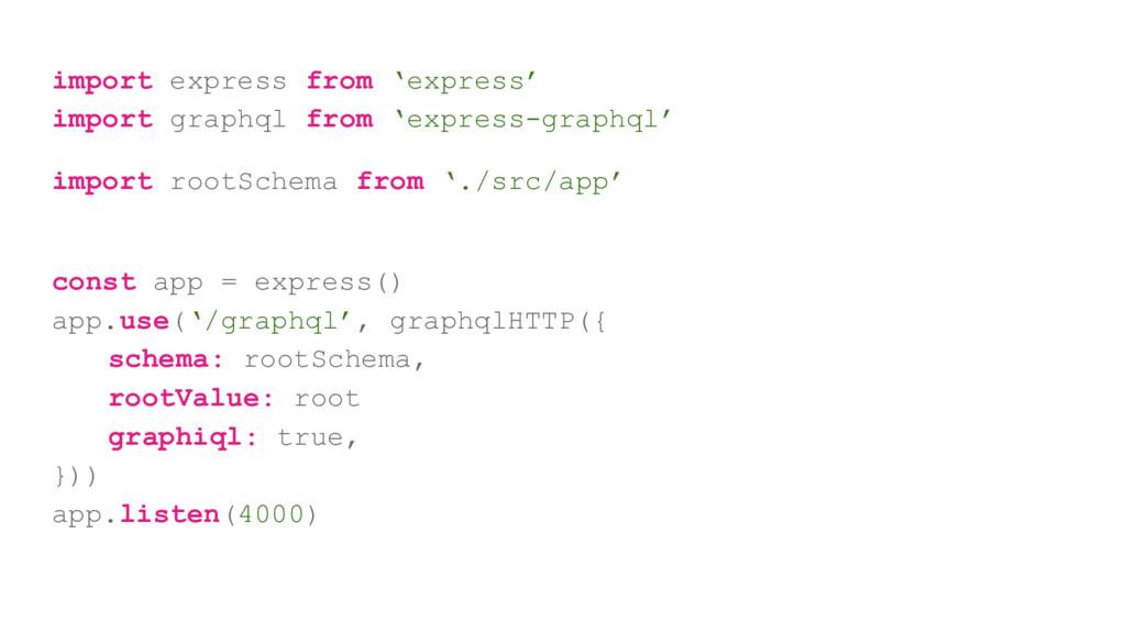 import express from 'express' import graphql fr...