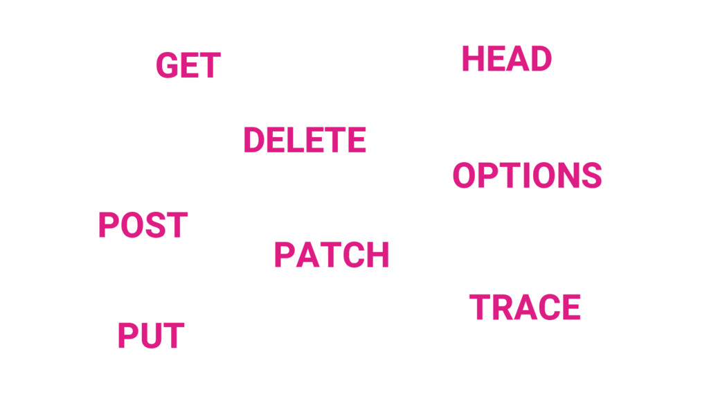 GET POST PUT DELETE PATCH HEAD TRACE OPTIONS