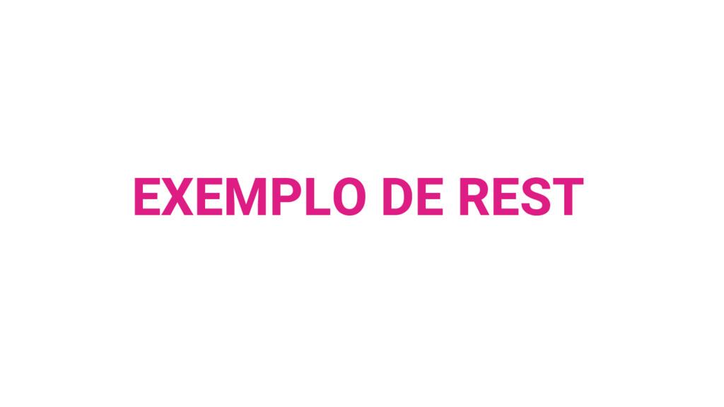EXEMPLO DE REST