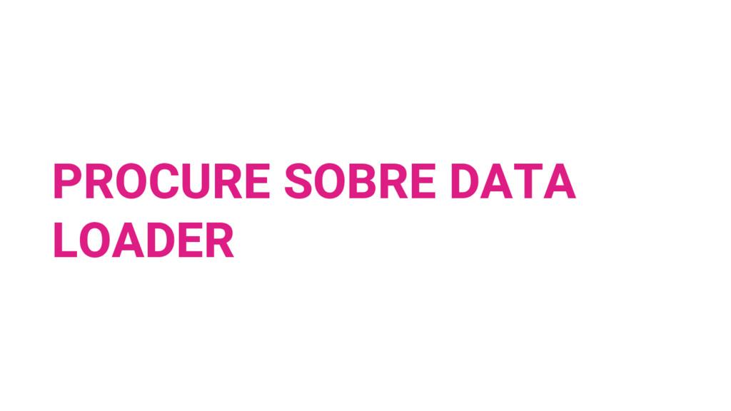 PROCURE SOBRE DATA LOADER