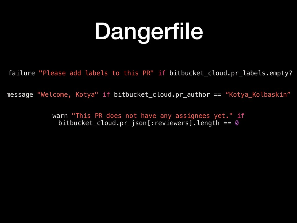 "Dangerfile failure ""Please add labels to this PR..."