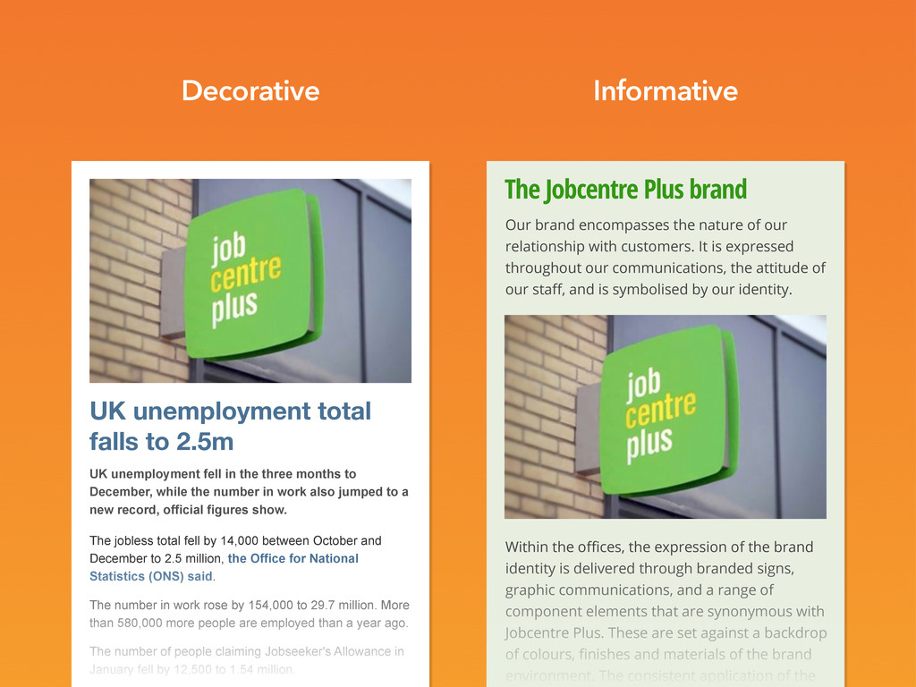 The Jobcentre Plus brand Our brand encompasses ...