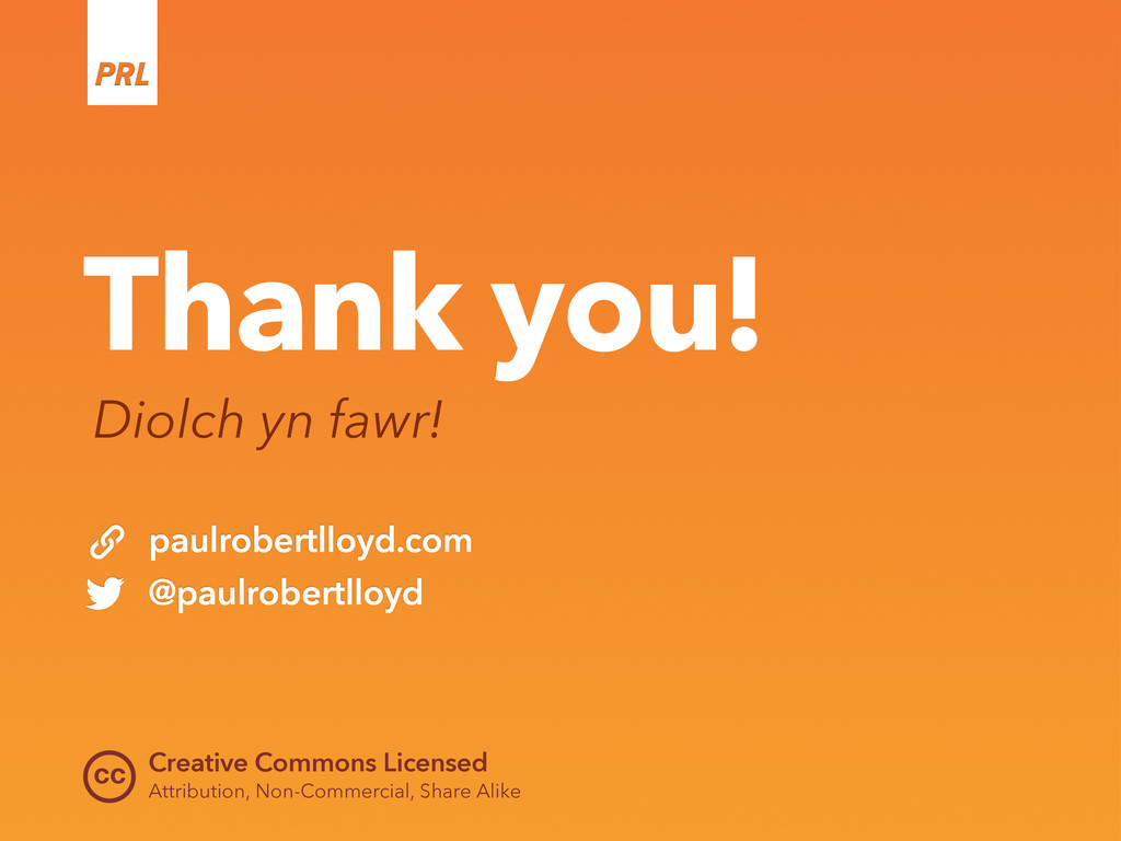 cc Thank you! Diolch yn fawr! Creative Commons ...