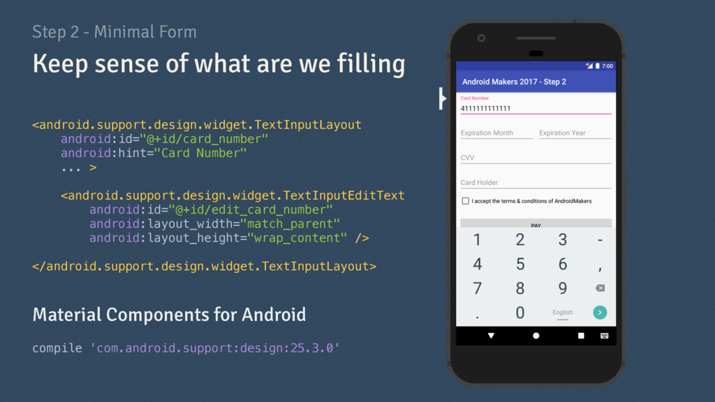 Step 2 - Minimal Form <android.support.design.w...