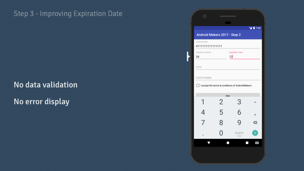 Step 3 - Improving Expiration Date No data vali...