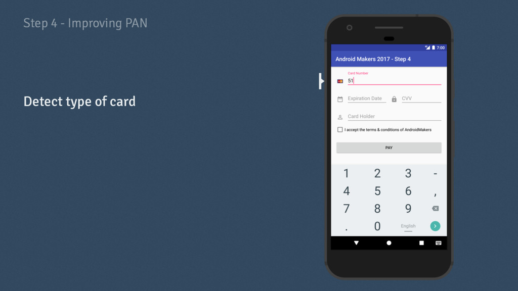 Step 4 - Improving PAN Detect type of card