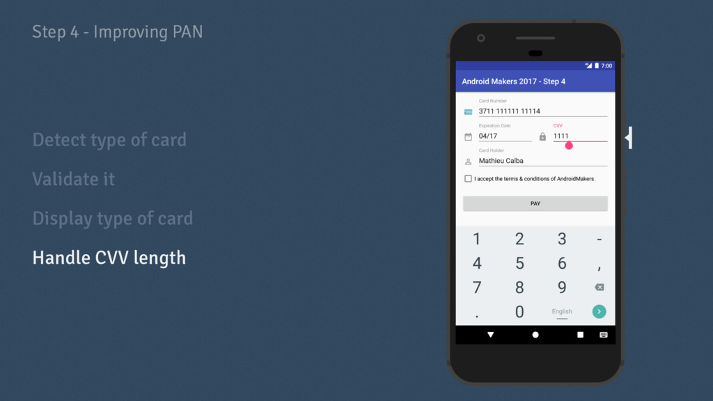 Step 4 - Improving PAN Detect type of card Vali...