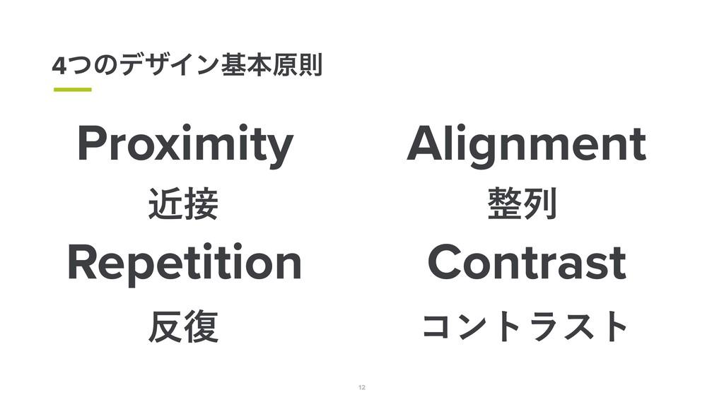12 4ͭͷσβΠϯجຊݪଇ Proximity ۙ Alignment ྻ Repeti...