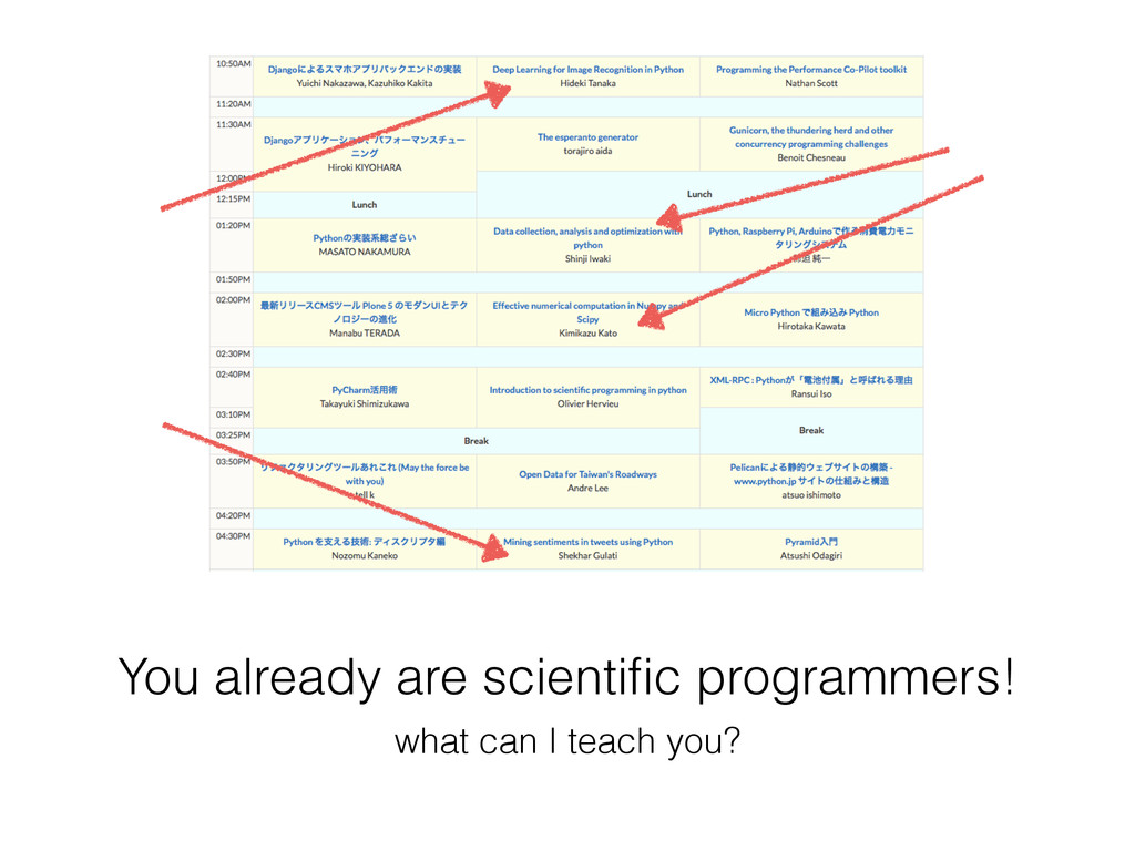 You already are scientific programmers! what can...