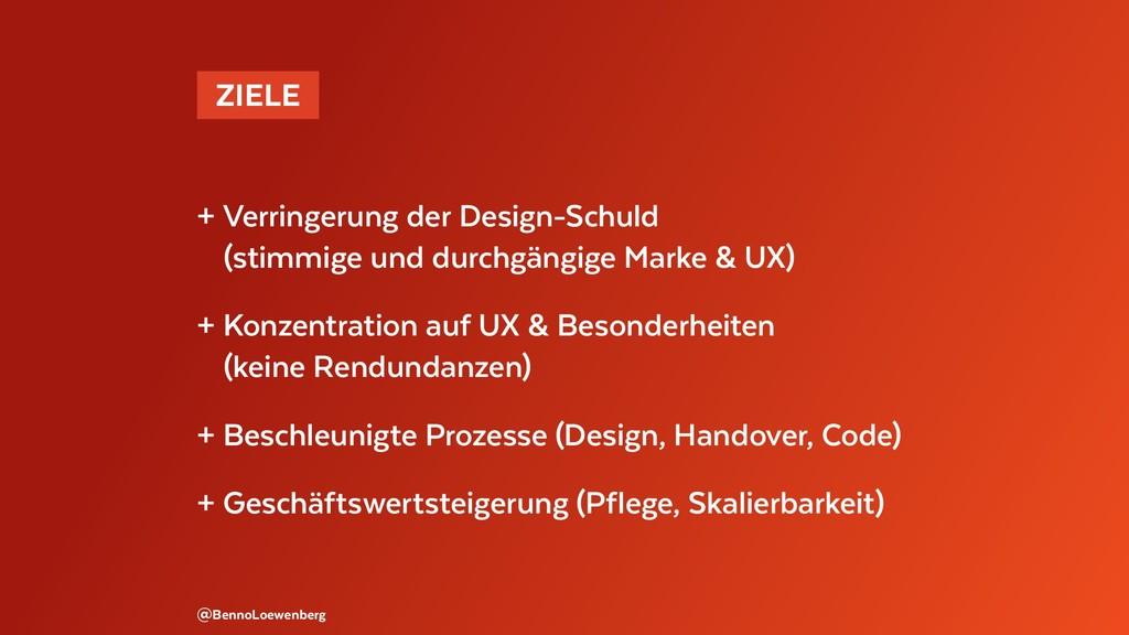 @BennoLoewenberg + Verringerung der Design-Schu...
