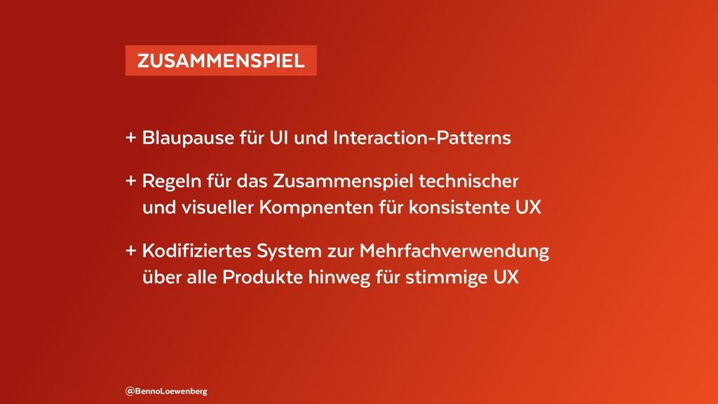 @BennoLoewenberg + Blaupause für UI und Interac...