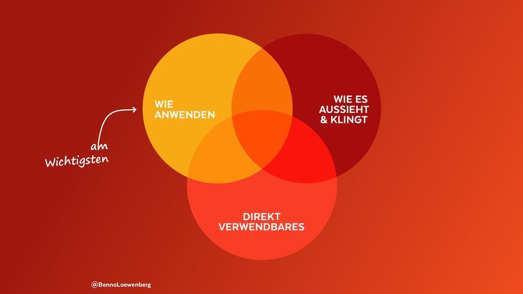 @BennoLoewenberg am Wichtigsten WIE ANWENDEN WI...