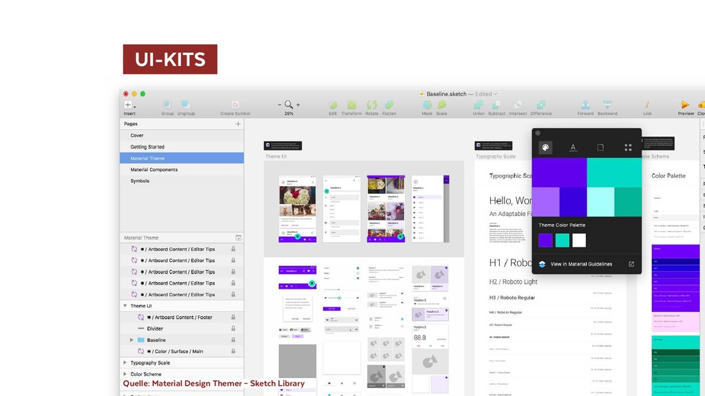 UI-KITS  Quelle: Material Design Themer – Sket...