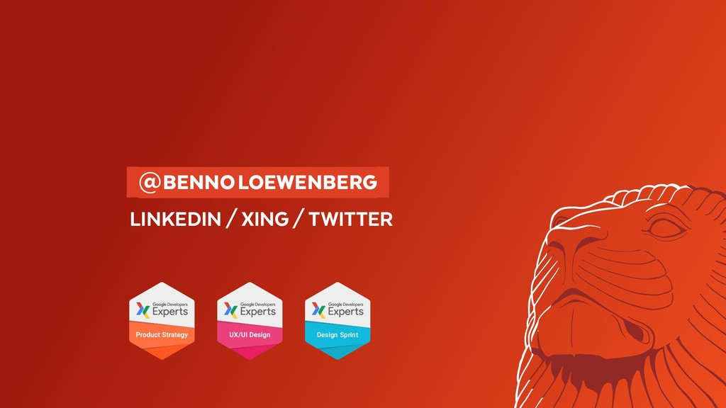 @BENNOLOEWENBERG LINKEDIN/XING/TWITTER ...