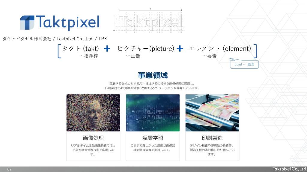 67 タクトピクセル株式会社 / Taktpixel Co., Ltd. / TPX タクト ...