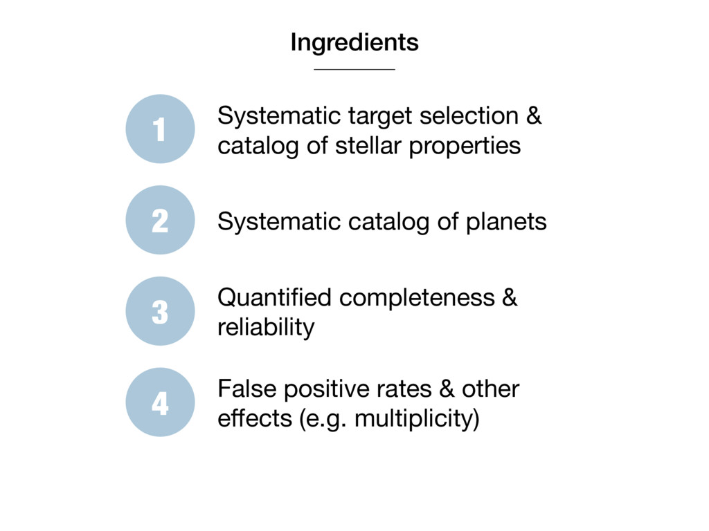 Ingredients 1 Systematic target selection & cat...