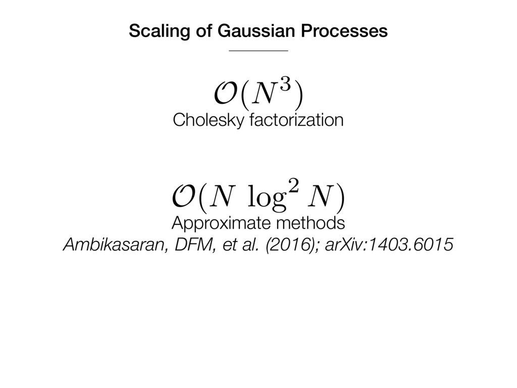 Scaling of Gaussian Processes O(N3) Cholesky fa...