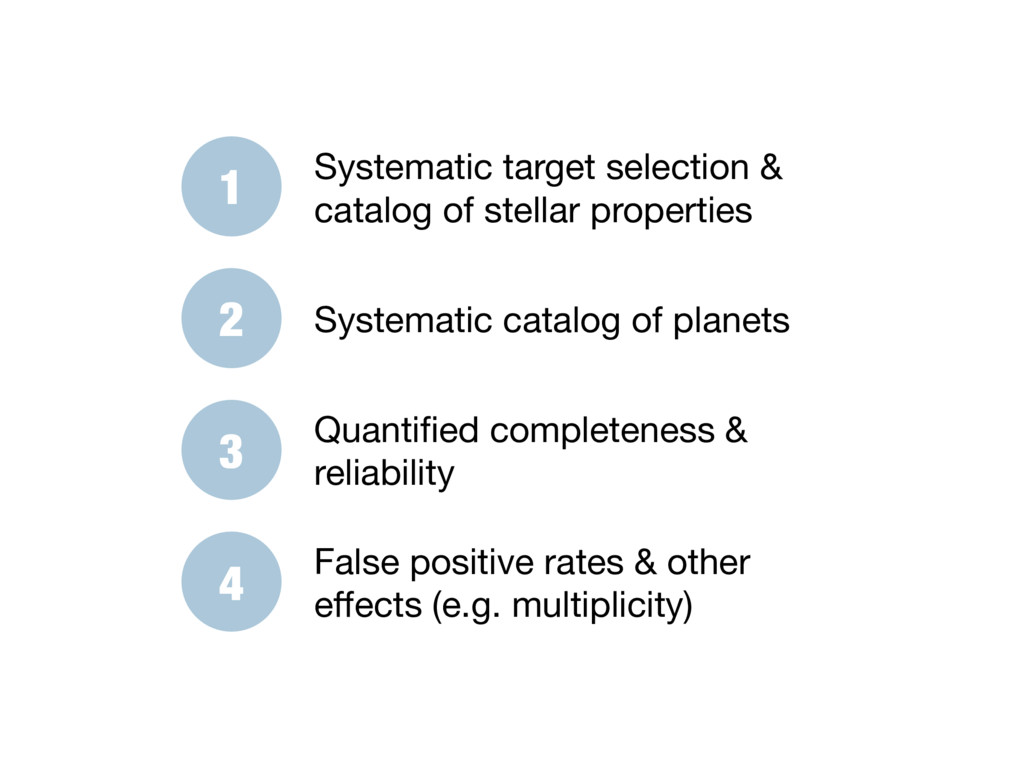 1 Systematic target selection & catalog of stel...