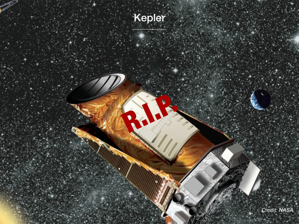 Credit: NASA R.I.P. Kepler