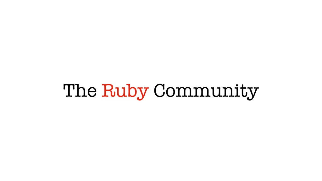 The Ruby Community