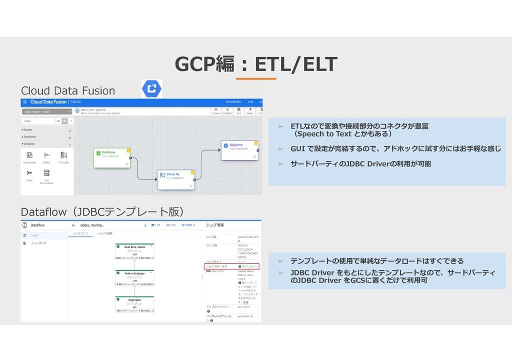 GCP編:ETL/ELT Cloud Data Fusion Dataflow(JDBCテンプ...