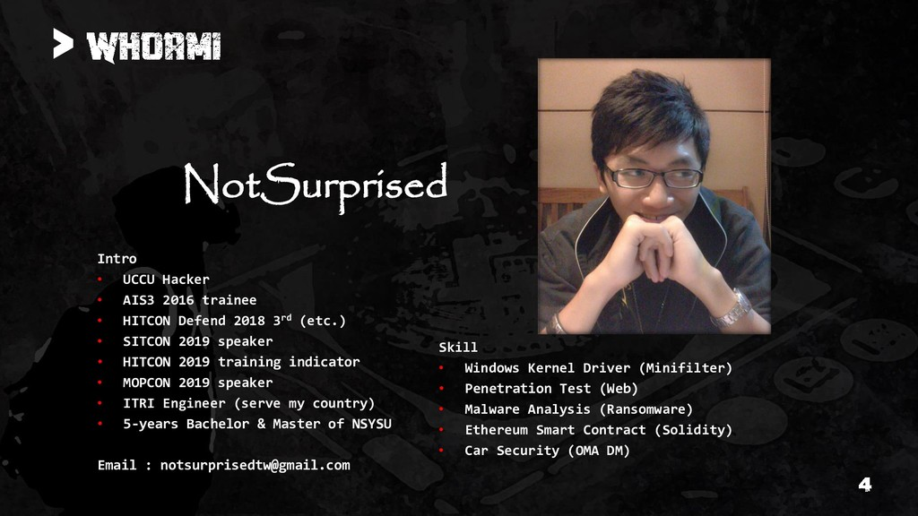> NotSurprised Intro • UCCU Hacker • AIS3 2016 ...