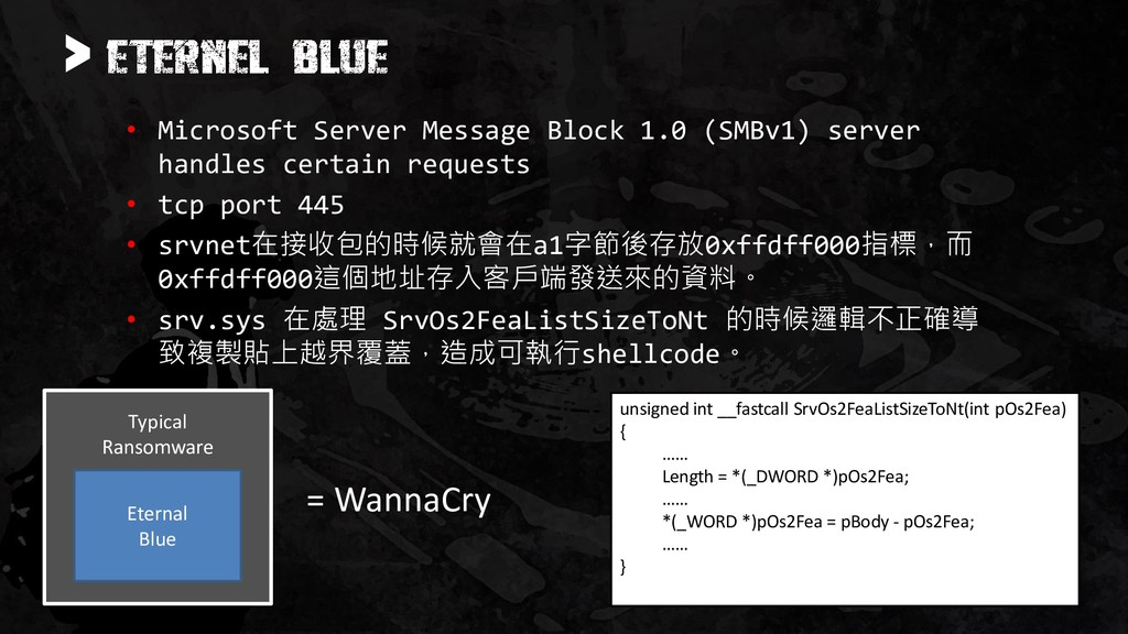 > • Microsoft Server Message Block 1.0 (SMBv1) ...
