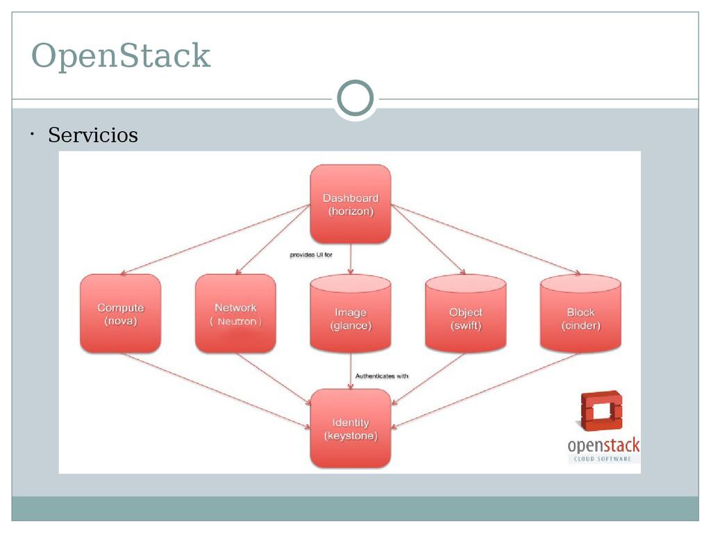 OpenStack  Servicios