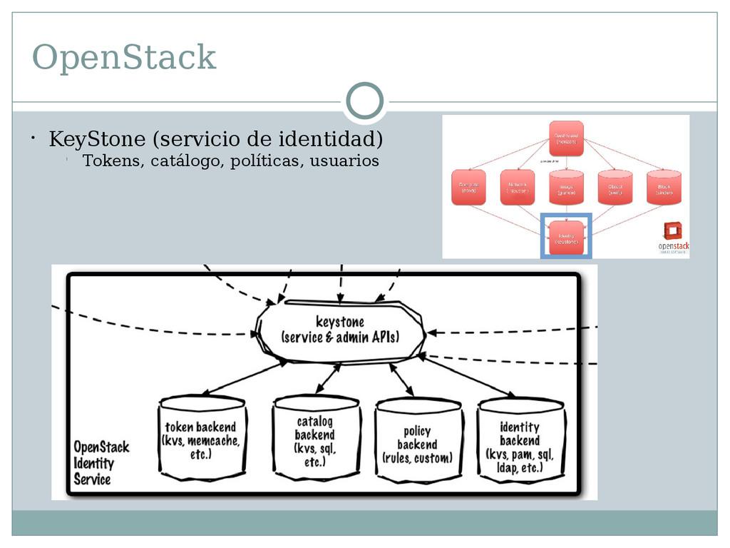 OpenStack  KeyStone (servicio de identidad) l ...