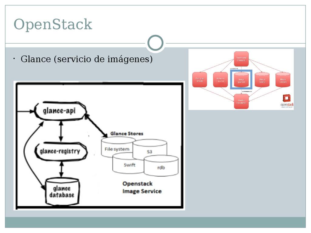 OpenStack  Glance (servicio de imágenes)