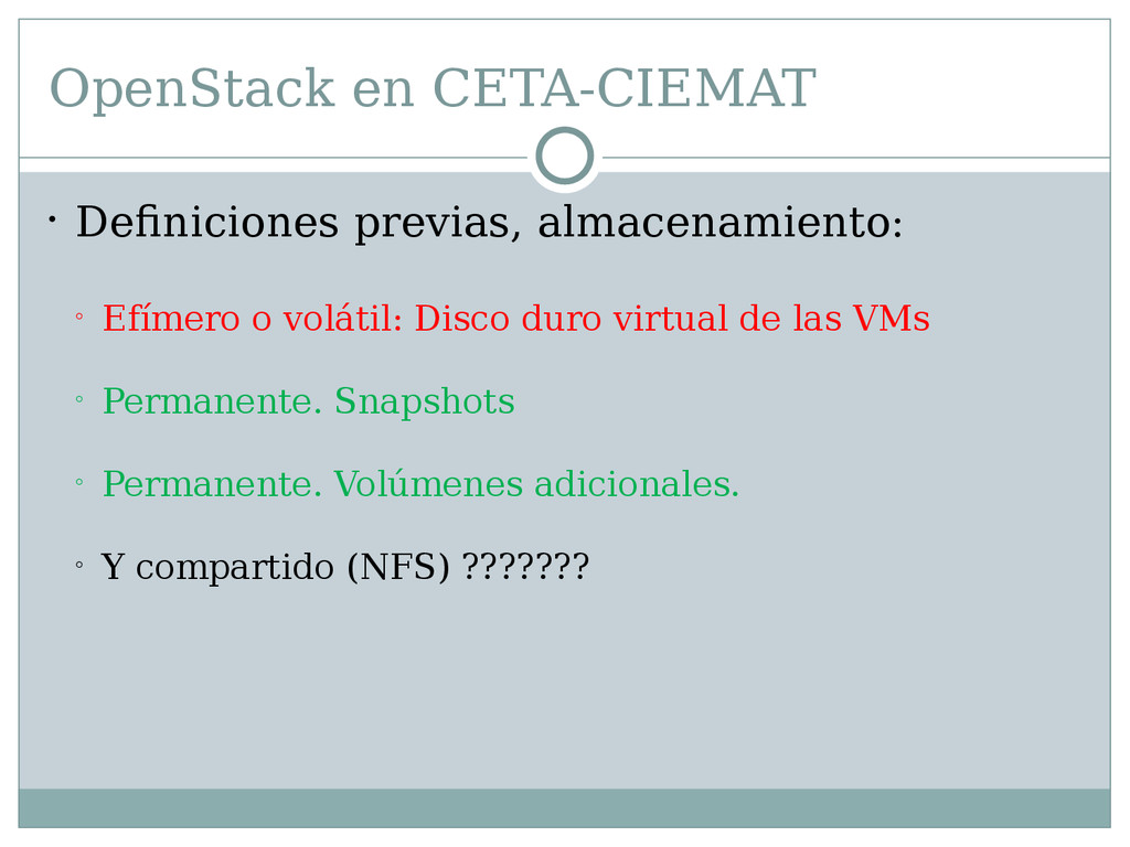 OpenStack en CETA-CIEMAT  Definiciones previas...