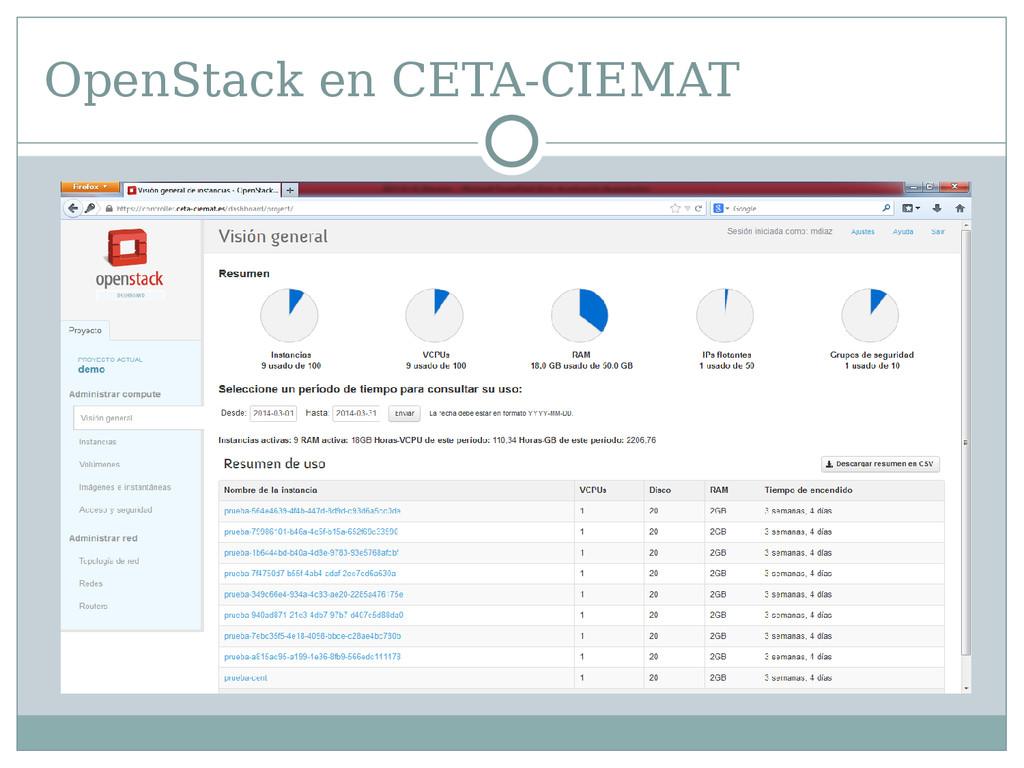 OpenStack en CETA-CIEMAT OpenStack en CETA-CIEM...
