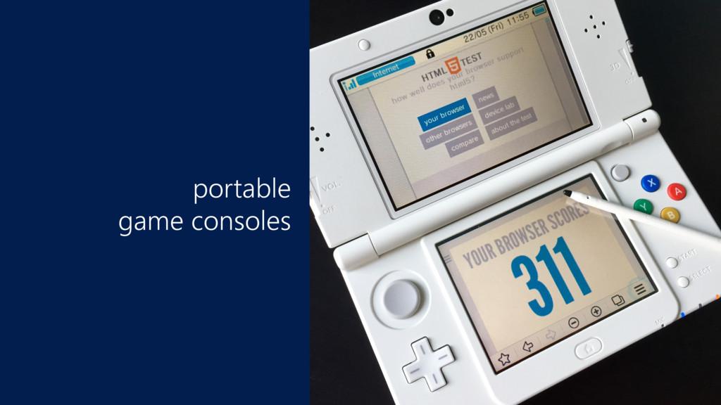 portable game consoles