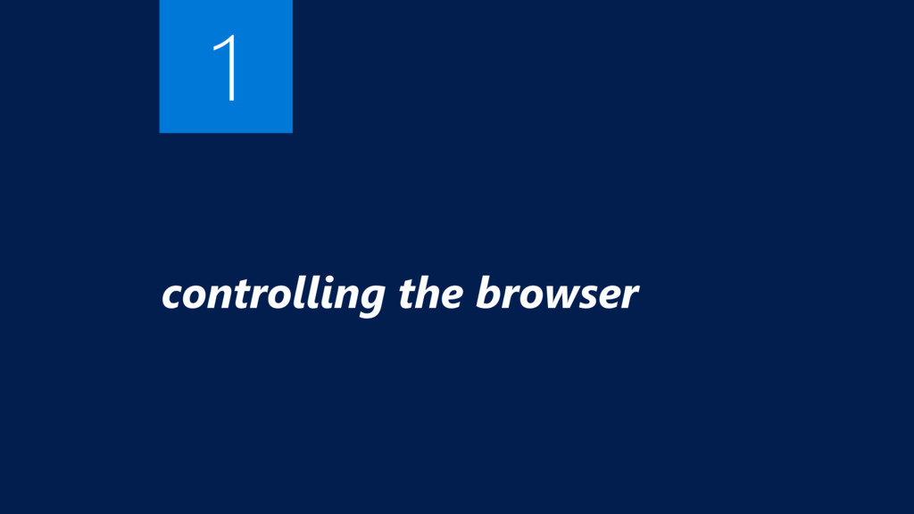 controlling the browser 1