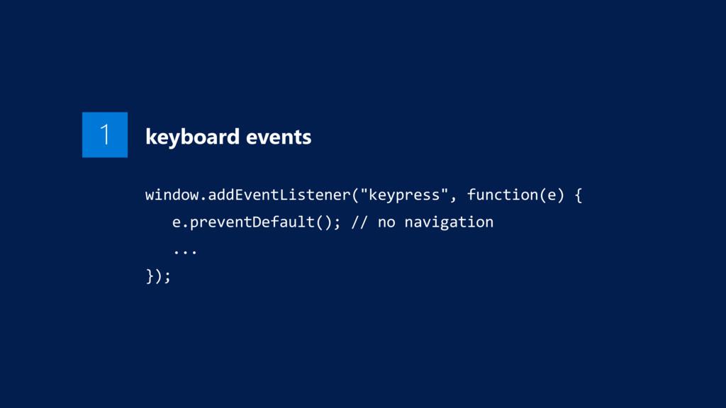 "1 keyboard events window.addEventListener(""keyp..."