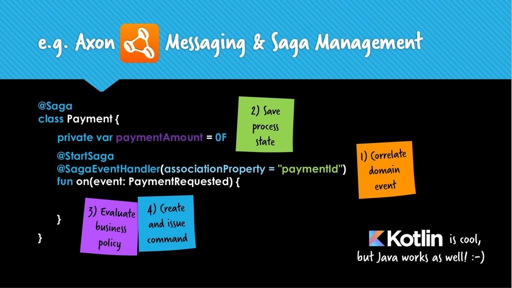 @Saga class Payment { private var paymentAmount...