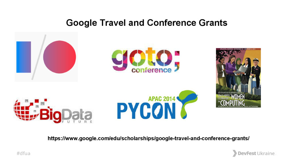 #dfua Google Travel and Conference Grants https...